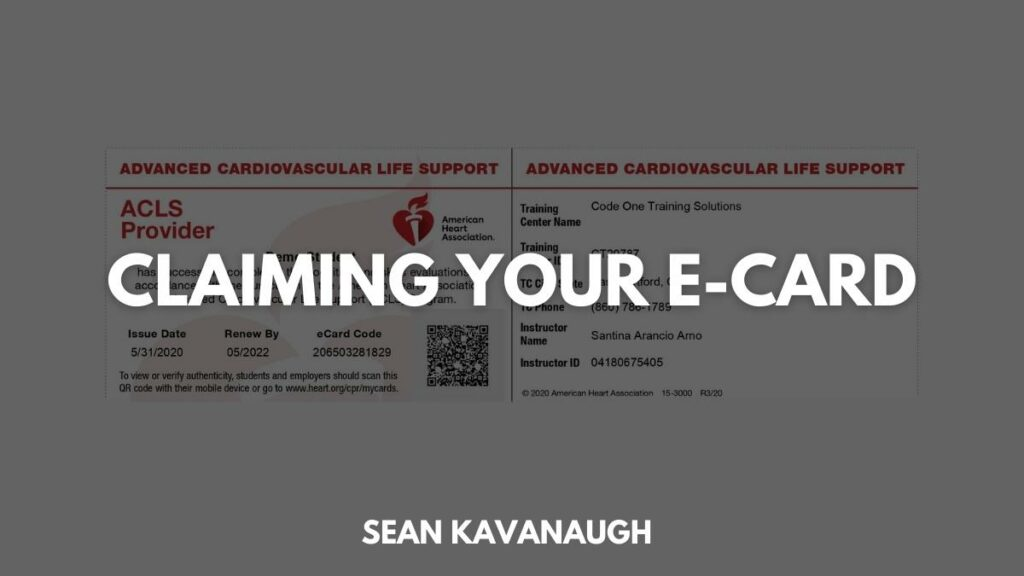 Claiming Your E-Card